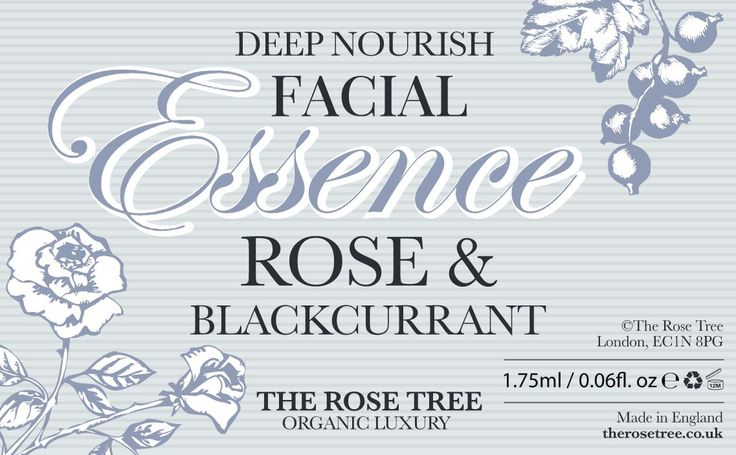 Today we are reviewing all our information cards but pretty happy with the design for our Rose and Blackcurrant Facial Essence.