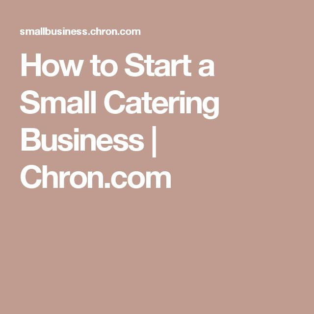 how to draw up a business plan for catering