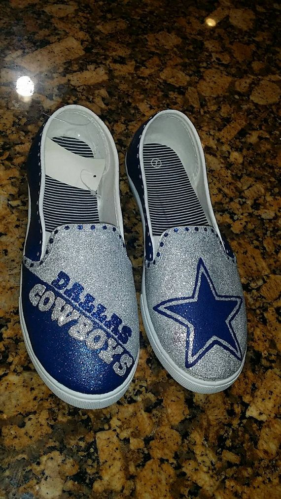 NFL Dallas Cowboys Shoes by KashCrystals14 on Etsy
