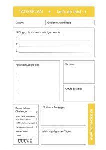 Tagesplan bzw. Motivationsplan! Kostenlose Druckvorlage auf: https://www.moms-blog.de/kostenloser_tagesplan_wochenplan_organizer_kostenlos_druckvorlage/ #aufräumen #tagesplan #minimalismus #haushaltsplan #kostenlos #druckvorlage