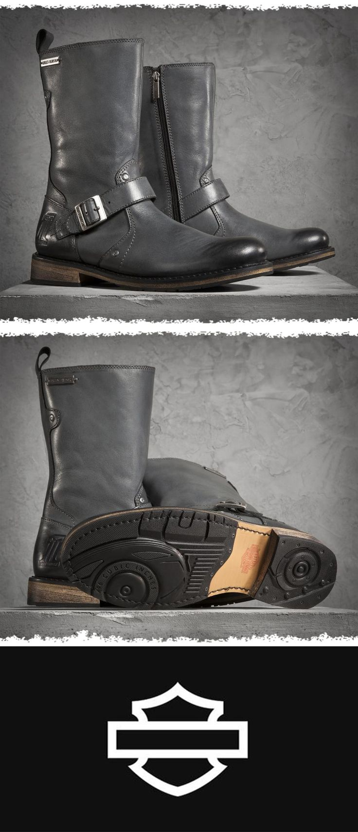 Who says you can't have stylish boots with excellent quality when you're kicking back off-the-bike?   Harley-Davidson Men's Brendan Boots #FathersDay