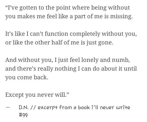 Excerpt from a book ill never write