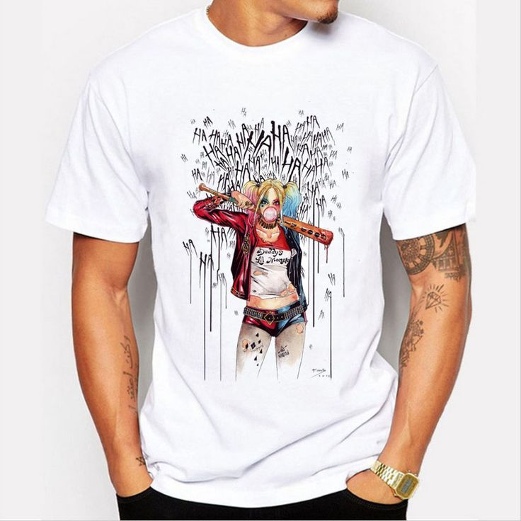 Cotton Harley Quinn T-Shirt - free shipping worldwide