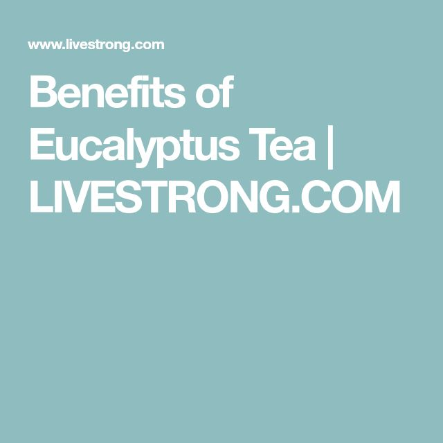 Benefits of Eucalyptus Tea | LIVESTRONG.COM