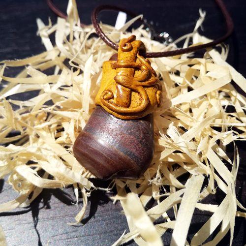 Arrowthings Aum Om Necklace. Handmade jewellery.