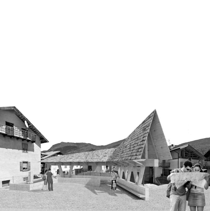 Recupero architettonico lavatoio comunale di Mezzano (TN)