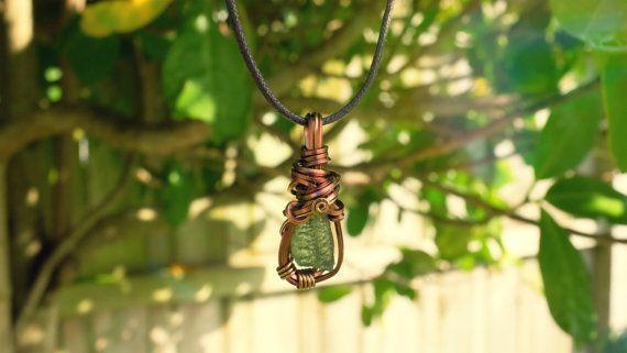 Enchanted Moldavite Pendant Necklace by CreationOfGaia on Etsy
