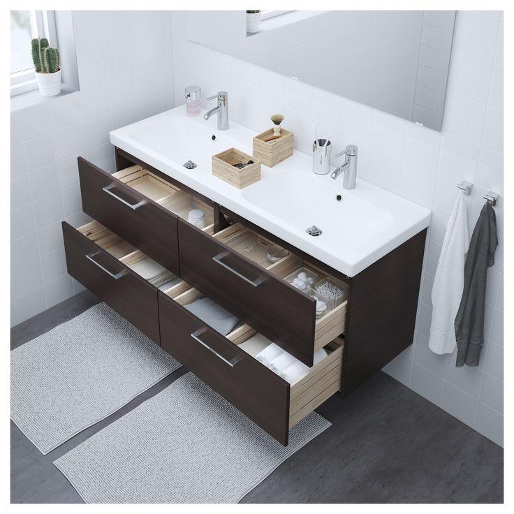 IKEA – GODMORGON / ODENSVIK Sink cabinet with 4 drawers black-brown