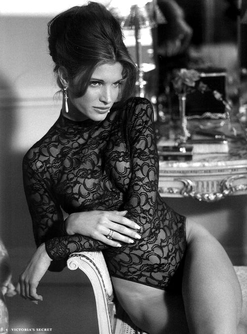 """Stephanie Seymour - My fav VS model of all time. Timeless!  Timeless classic, the """"beehive"""" totally """"In"""" this fall!"""