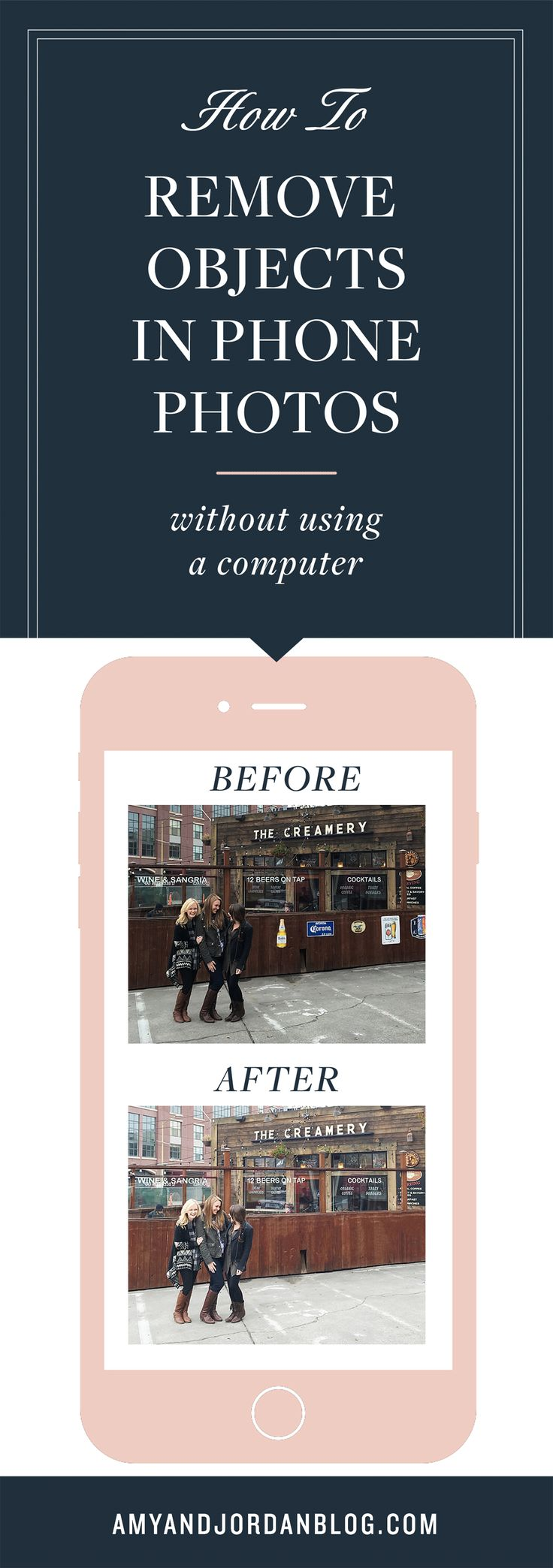 Sometimes we snap a photo we love from our phones, and there's something in it that's distracting our eye from appreciating the memory, but we still want to put it on Instagram. We'll teach you how to remove objects in phone photos without using a computer!