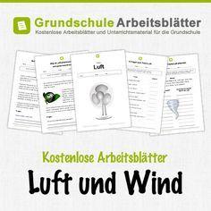 Kostenlose Arbeitsblätter und Unterrichtsmaterial für den Sachunterricht zum Thema Luft und Wind in der Grundschule.