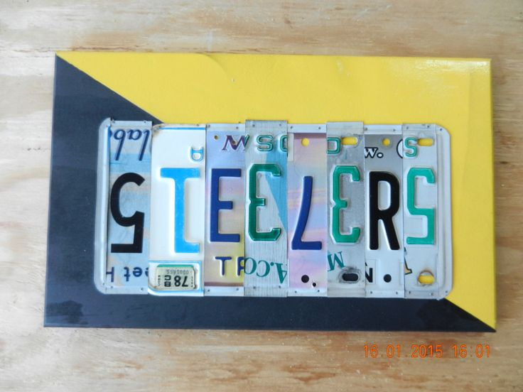 Steelers (Pittsburgh Steelers License Plate Sign (Made to Order) by TreasuredSunsets on Etsy