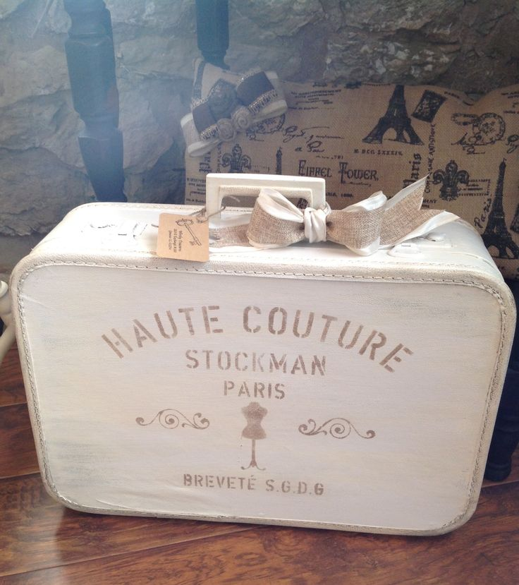 Painting old suitcases