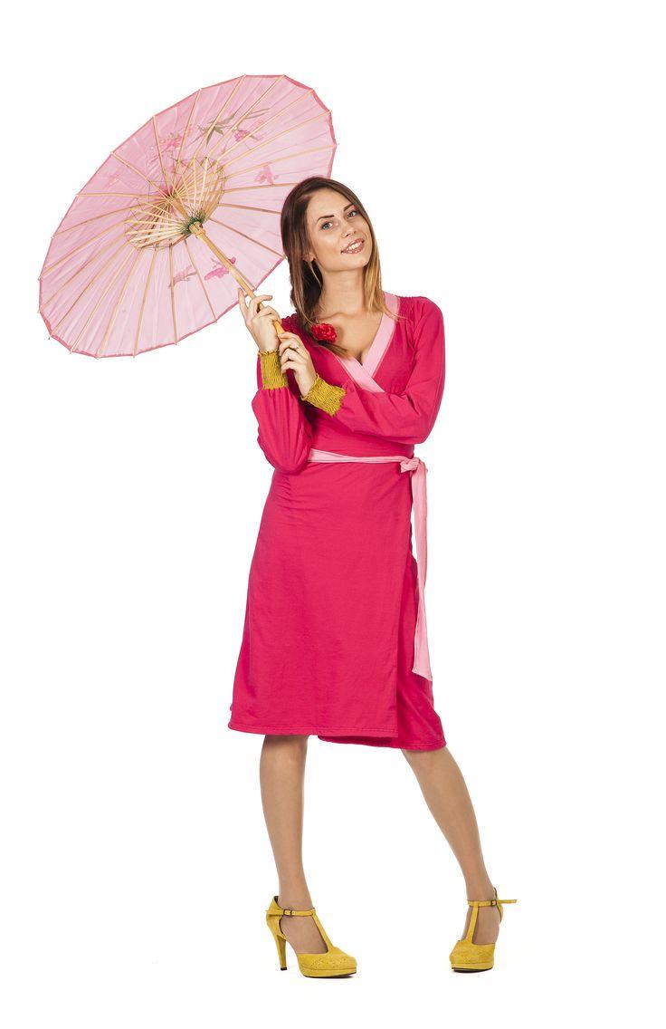 Omslagskjole, rosa | Se min kjole
