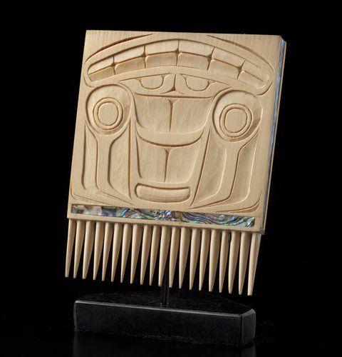 Raven Comb by Corey W. Moraes, Tsimshian artist (W100702)