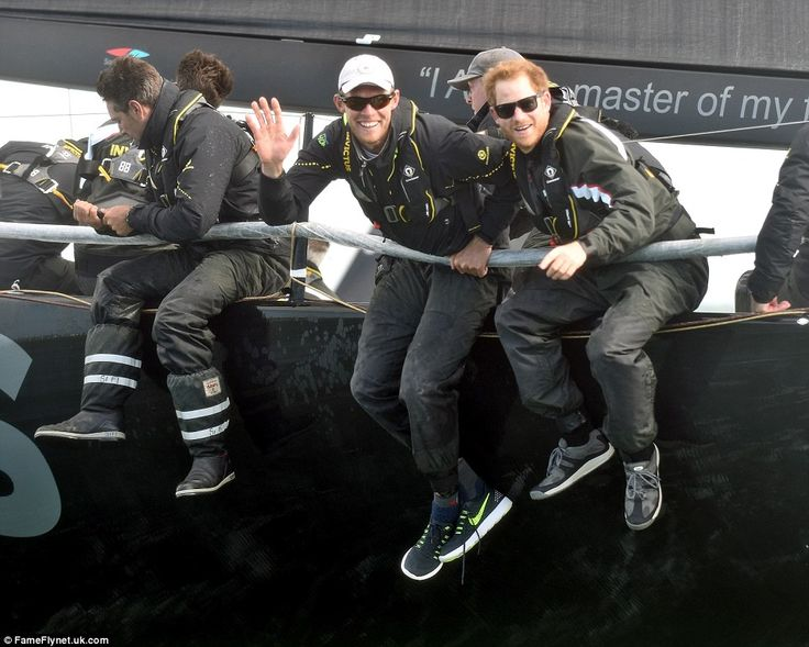 The Prince's team narrowly missed out on one of the most coveting sailing trophies, the Gold Roman Bowl, by a margin of just six minutes, finishing the 50-mile race in just over four-and-a-half hours