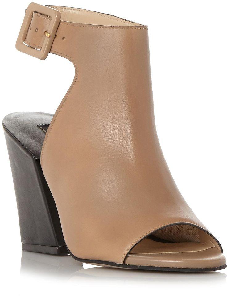 Womens camel jarrah high vamp block heel sandal from Dune - £125 at ClothingByColour.com