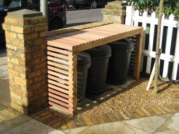 discrete bins outside house - Google Search