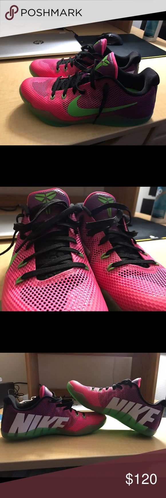 """Nike Kobe 11 EM """"Mambacurial"""" 9.9/10, Size 8.5, worn once. Practically brand new, comes with original box. Nike Shoes Athletic Shoes"""