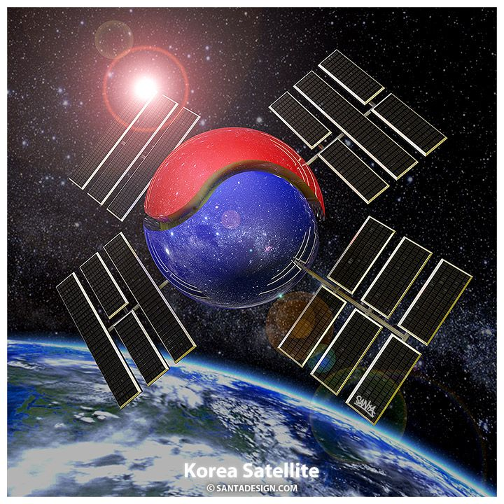 Korea Satellite / 한국 인공위성 / 태극기 / #Korea #Satellite #한국 #인공위성 #태극기