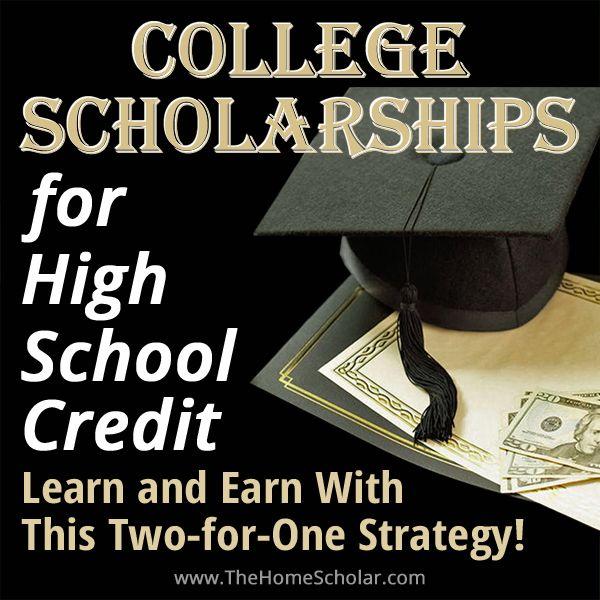 college scholarship high school credit