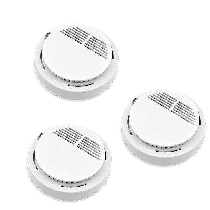 3ピース433 mhzセンサー敏感光電ホームセキュリティシステムコードレスワイヤレス煙検出器火災警報保護