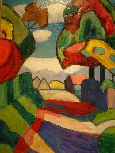 Gabriele Munter, Road in Multicolored October, 1959. on ArtStack #gabriele-munter #art