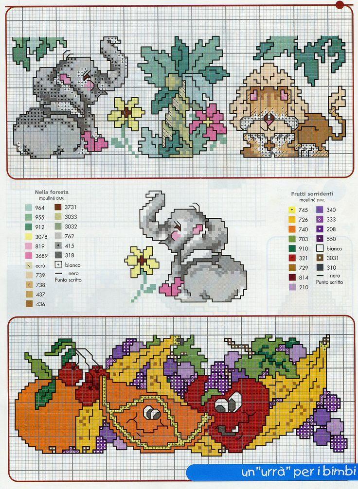 elefanti punto croce schemi   Per salvare lo schema sul tuo computer clicca sull'immagine con il ...
