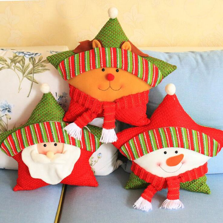 Aliexpress.com: Comprar hot 1pc 46cm Santa Claus Snowman Reindeer Star Merry Christmas Pillow Cushion Toys Party Decoration Supplies Child Gift 2017 de gift gifts fiable proveedores en aimihome Store