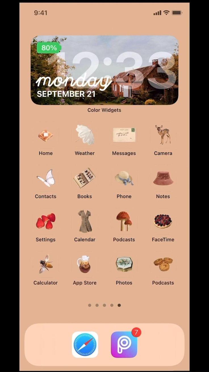 Cottagecore ios 14 home screen theme video
