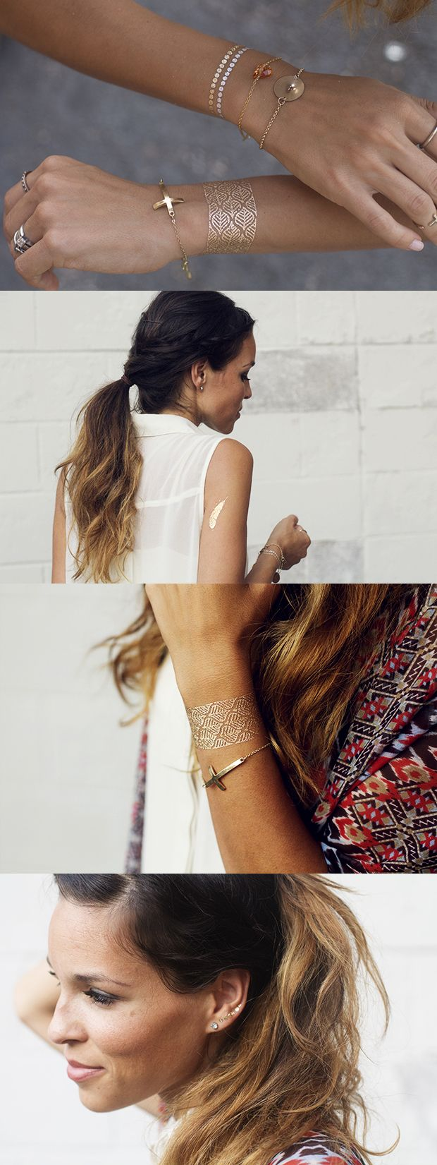 These metallic tattoos are amazing! Temporary tattoos have never looked SO good. Where to buy them on the blog!