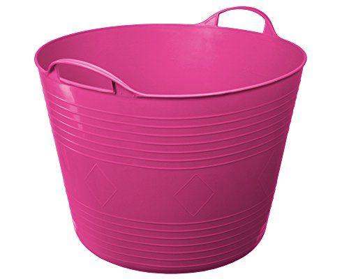 Flexi Tub Tragekorb Gartenkorb W�schekorb Spielzeugeimer 40 Liter pink rund