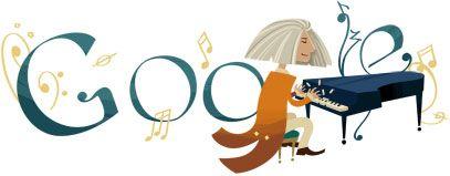 Franz Liszt birthday anniversary Google image 22 october 2011 © Google