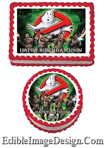 GHOSTBUSTERS Edible Birthday Party Cake Image Cupcake ...