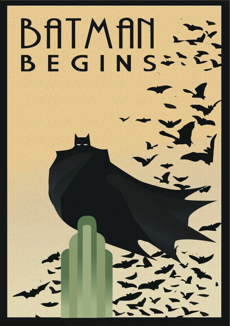 Batman Begins Dark Knight Movie/Film Vintage Art Deco Print/Poster. A4/A3/A2/A1 | eBay