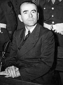 1939 1945 Albert Speer durant le procès de Nuremberg, en 1946.