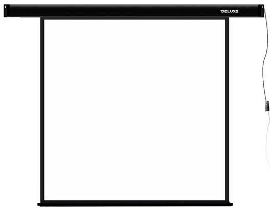 Deluxe Проекционный экран, deluxe, dls-e203x, моторизированный, 203x203, matt white, чёрный