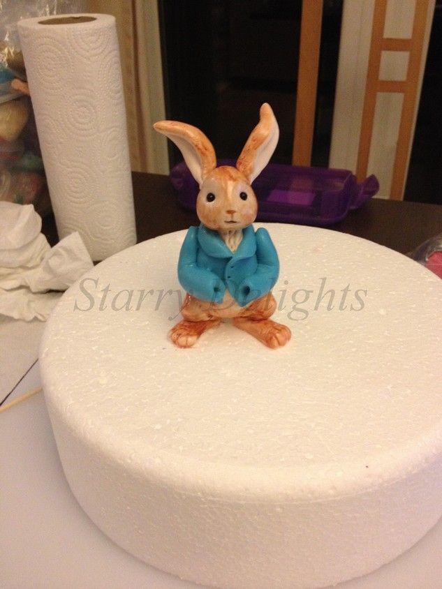 Fondant Peter Rabbit Tutorial cake extras Pinterest ...