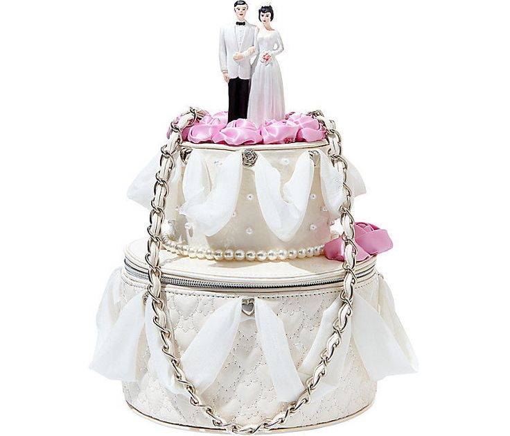 betsey johnson betsey blue wedding cake bag bj52405 shiny quilted hearts pearls women 39 s. Black Bedroom Furniture Sets. Home Design Ideas