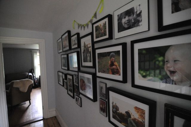 I love these strong horizontal images on the wall. Awesome @Amanda Snelson soule.