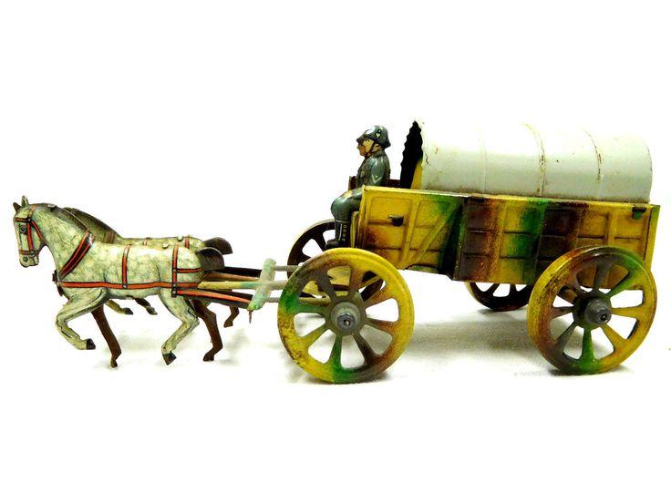 Original Pennytoy Militär Blechspielzeug Soldaten Planwagen Pferdegespann /725   eBay