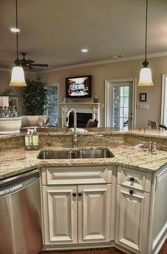 Raised bar behind the sink. loVE THIS! I have this already ... on Modern:0Bjn4Cem9Be= Kitchen Counter  id=38255