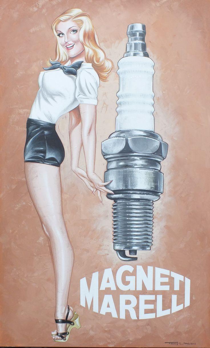 Acrylic on canvas Spark plug