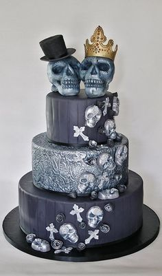 17 Best 1000 images about Day of the Dead Wedding cakes and more on