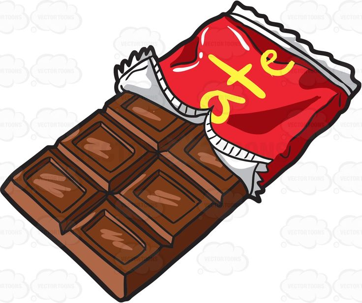A yummy milk chocolate bar #cartoon #clipart #vector #vectortoons #stockimage #stockart #art