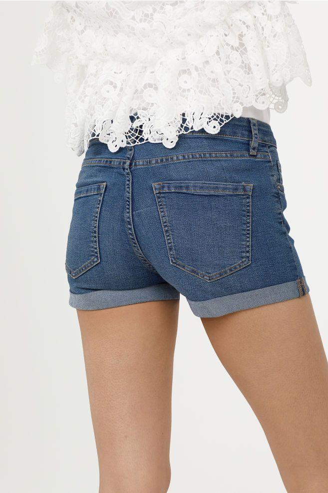 court en et Short jean jeanJeans en Short bleuShort 8k0OXwnP