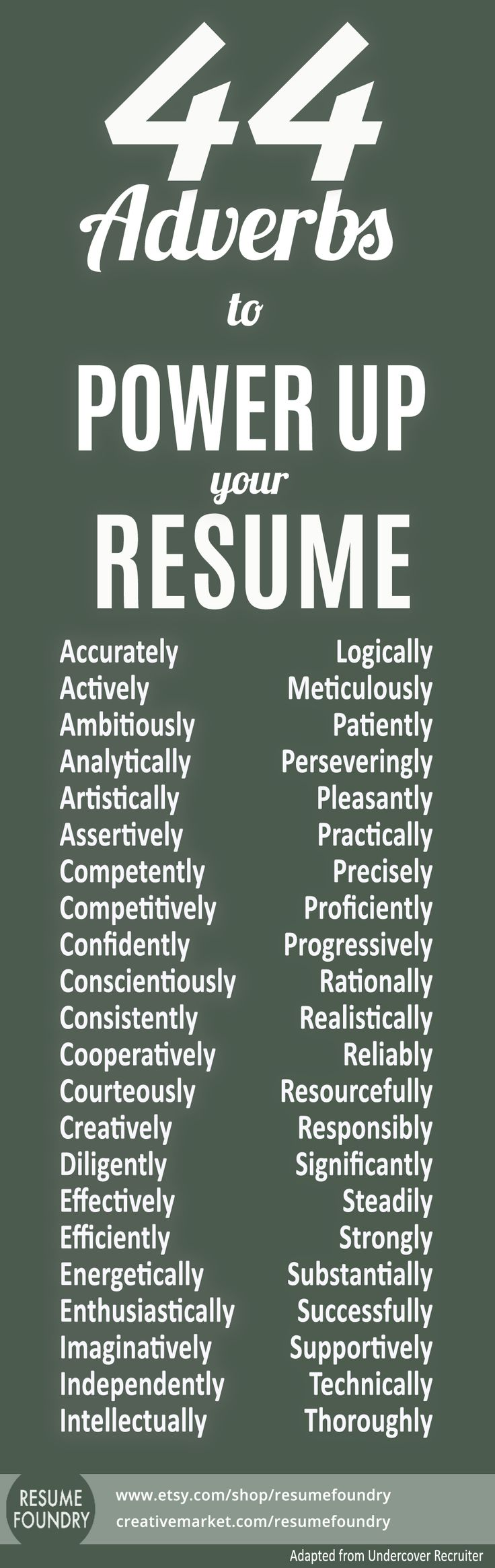 Resume tips resume skill words resume verbs
