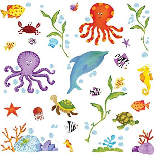 Fabulous Adventures Under the Sea Peel and Stick Wall Decals Baby Infant Children Room Nursery Home Decor