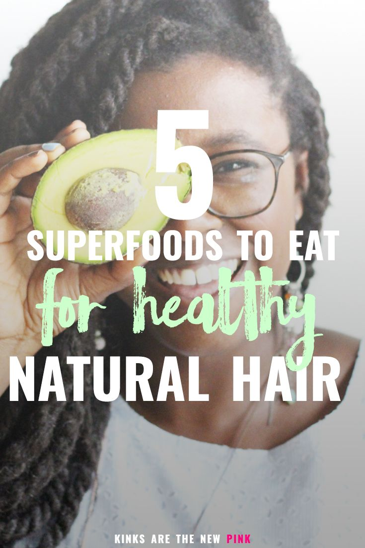 What you put in your body counts just as much, if not more than, what you put on your curls. Here are 5 SUPERFOODS that will help maintain healthy locks. #naturalhair