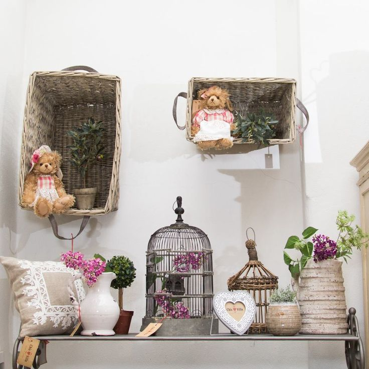 IDEAS - Bring childhood back by placing baskets on your walls! Fill them with toys!